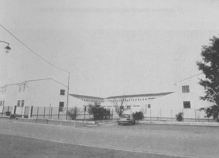 Νεόδμητο συγκρότημα στις Αλυκές, οδός Αντ. Τζεβελέκη. Στεγάζει αριστερά το 1ο μικτό Γυμνάσιο από το 1993 ως σήμερα και δεξιά το 1ο μικτό Λύκειο από το Δεκέβρη του 1994 ως σήμερα. Φωτογραφίες Δ. Βλάχου (2002)