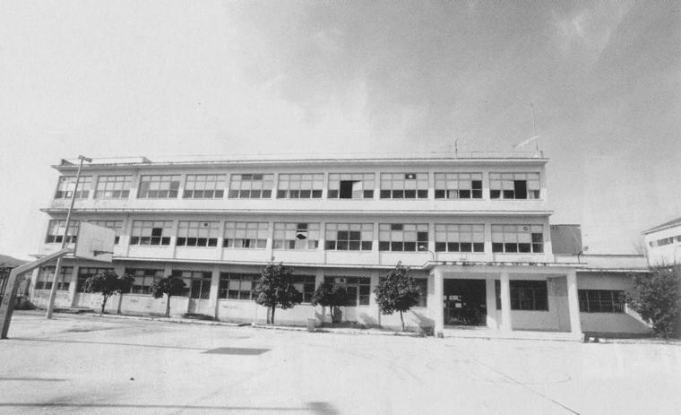 Νεόδμητο κτίριο στη Νεάπολη, δίπλα στο Γήπεδο (οδός Καποδιστρίου και Σταδίου), που στέγασε το εξατάξιο Γυμνάσιο Αρρένων (1970-1976), τα τριτάξια Γυμνάσιο/Λύκειο Αρρένων (1976-1979), το 1ο μικτό τριτάξιο Γυμνάσιο (1979-1993) και το 1ο μικτό Λύκειο (1979-1994). Από το 1994 ως σήμερα το κτίριο αυτό στέγασε διαδοχικά το Μουσικό Γυμνάσιο/Λύκειο, το Τεχνικό Λύκειο, το ΤΕΕ, το ΙΕΚ, το ΤΕΙ και (σήμερα) το 4ο Δημοτικό. Φωτογραφία Δ. Βλάχου (2002).