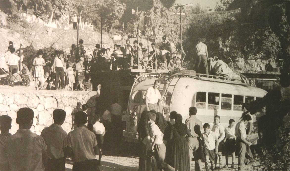 1966, Συγκέντρωση αποχαιρετισμού ενός ζευγαριού που μεταναστεύει στα Χορτάτα Φωτογραφία Fritz Berger