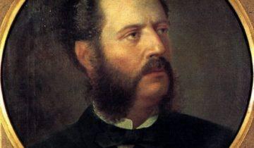 Αριστοτέλης Βαλαωρίτης, ελαιογραφία του Σπυρίδωνος Προσαλέντη