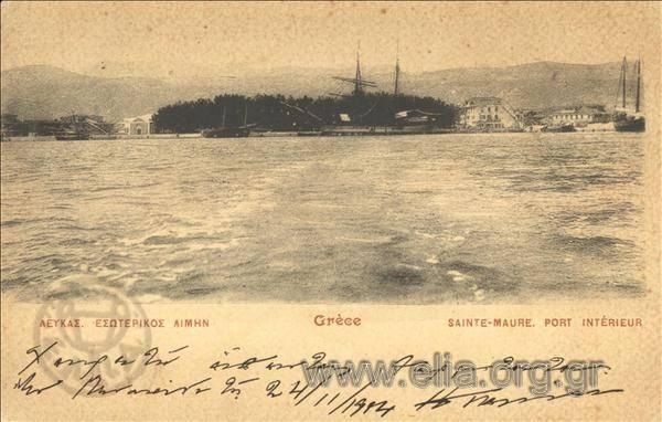 Τίτλος Λευκάς. Εσωτερικός λιμήν. Χρονολογία αποστολής 1904