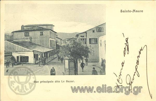 Τίτλος Sainte - Maure. Rue principale dite Le Bazar. Χρονολογία αποστολής 1905