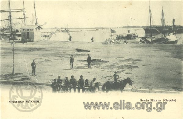 Τίτλος Προκυμαία Λευκάδος. Χρονολογία αποστολής 1911