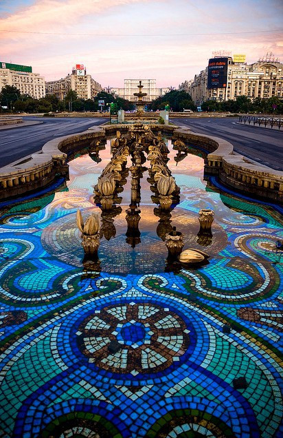 FOUNTAIN IN BUCHAREST, ROMANIA
