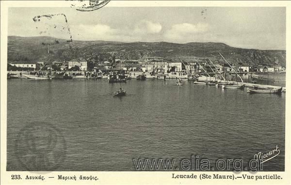 Τίτλος Λευκάς - Μερική άποψις. Χρονολογία αποστολής 1938