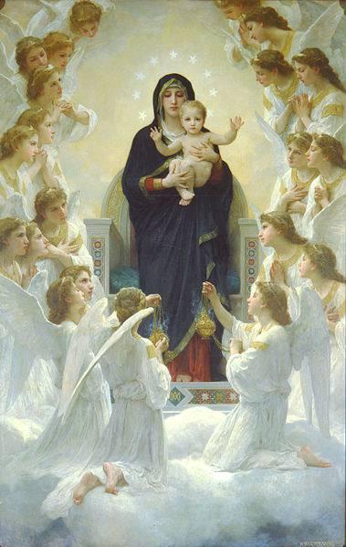 William Adolphe Bouguereau, Η Παναγία με τους αγγέλους. 1900.