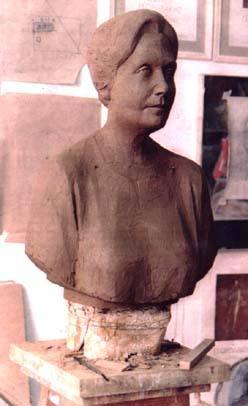 Πρόπλασμα προτομής που φιλοτέχνησε ο Μάρκος Γεωργιλάκης κατά παραγγελία του Λυκείου Ελληνίδων Ρεθύμνου.