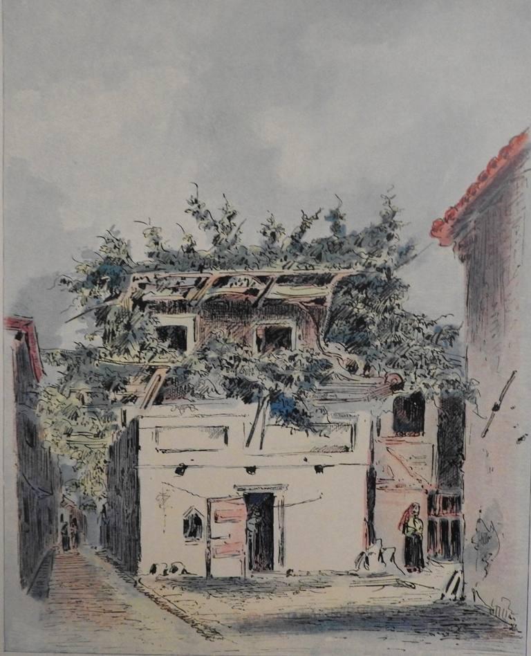 Ένα σπίτι με κληματαριά στην πόλη