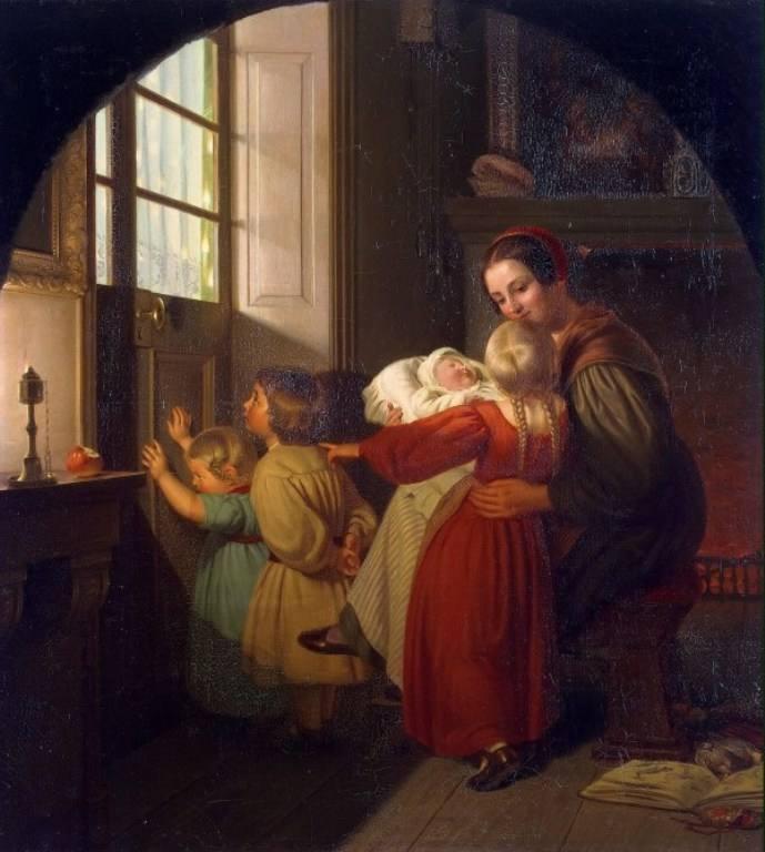 Τα παιδιά προσμένουν τη γιορτή – Theodor Hildebrandt