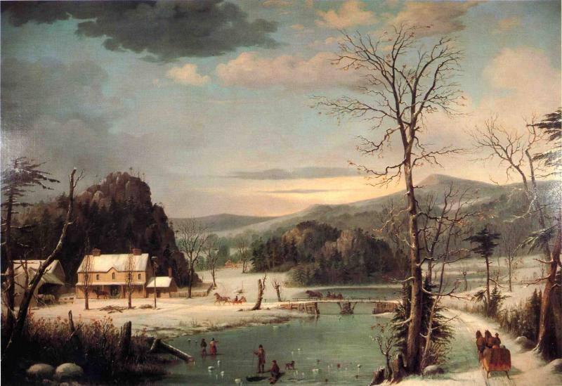 Χριστουγεννιάτικο πάρτι – George Henry Durrie – 1852