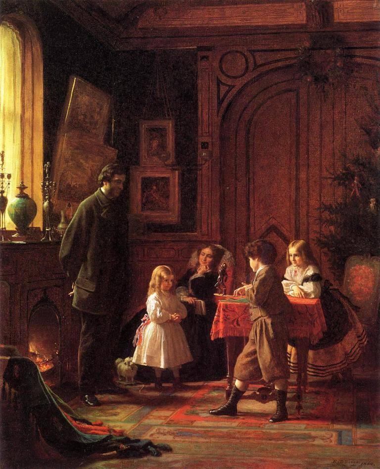 Χριστουγεννιάτικη ώρα -Eastman Johnson – 1864