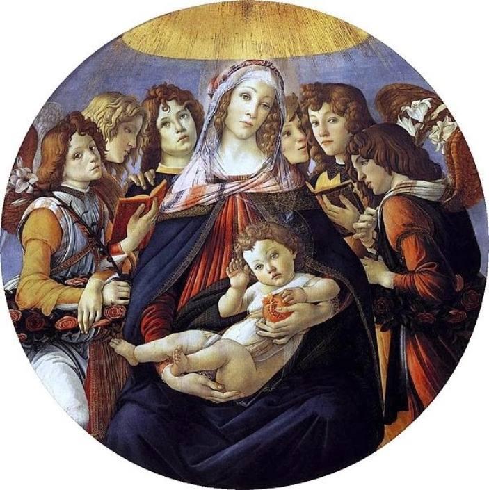 S. Botticelli, Η Μαντόνα με το ρόδι. 1487. Πινακοθήκη Uffici. Φλωρεντία.