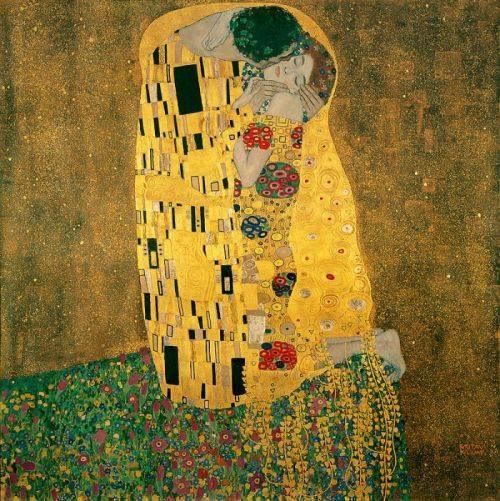 Το φιλί Γκούσταφ Κλιμτ, 1907-1908. Ελαιογραφία σε καμβά πινακοθήκη Μπελβεντέρε, Βιέννη