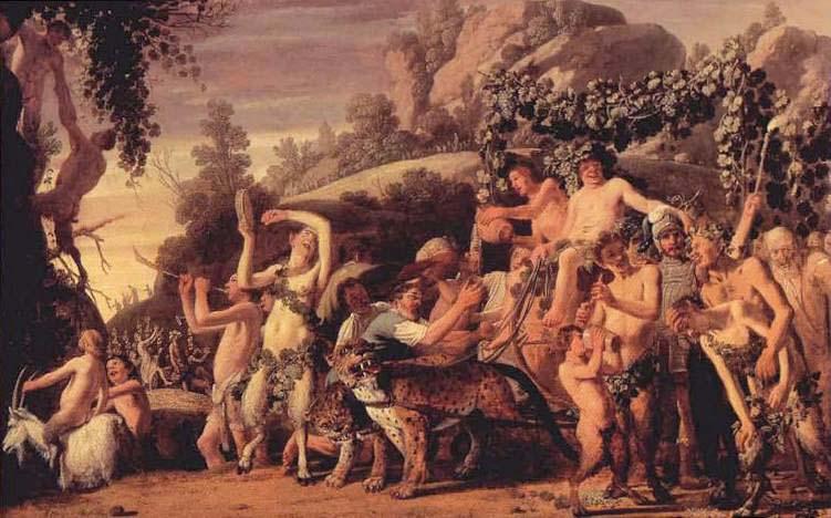 «Ο θρίαμβος του Διονύσου» 1624 πίνακας του Nicolaes Moeyaert. Βασιλική πινακοθήκη, Χάγη, Ολλανδία.