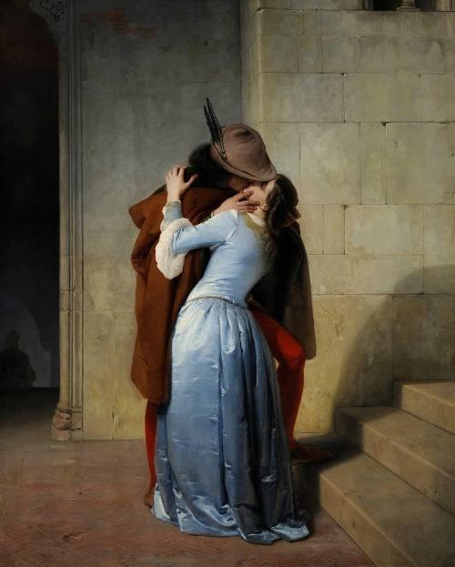 Francesco Hayez, Το φιλί. 1879. Πινακοθήκη της Μπρέρα. Μιλάνο