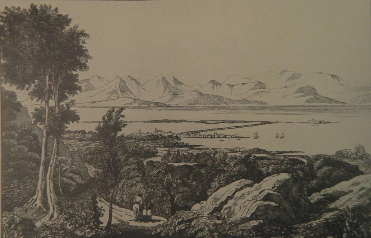 Η Λευκάδα (Leucade), χαλκογραφία, 10Χ 14,5 εκ., από την Έκδοση La Grecia di M. Pouqueville…, Venezia 1836.