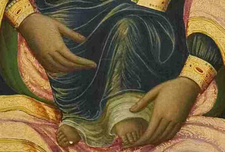 Θ.4 λεπτομ. χέρια Παναγίας