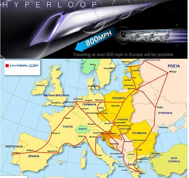 Την κατασκευή ενός πανευρωπαϊκού δικτύου hyperloop, δηλαδή σωλήνες με κάψουλες που θα μεταφέρουν επιβάτες.