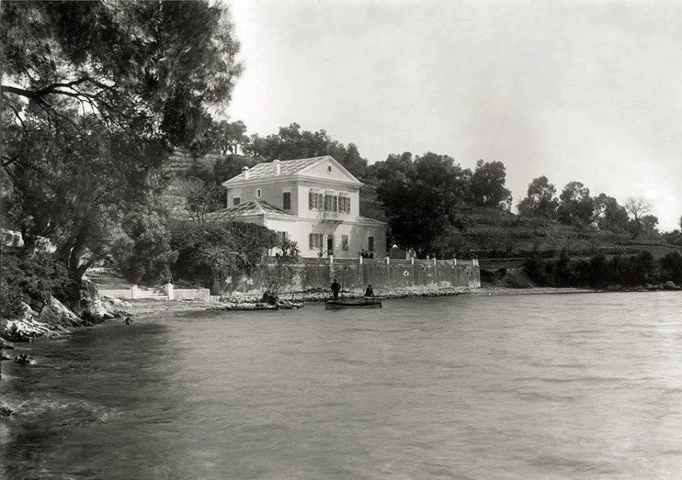Το αρχοντικό της οικογένειας Βαλαωρίτη στο νησάκι Μαδουρή της Λευκάδας, 1901