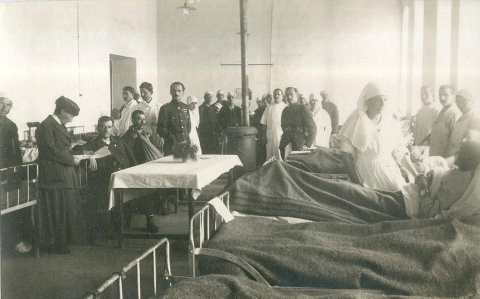 Θάλαμος στρατιωτικού Νοσοκομείου στην Ουκρανία 1919